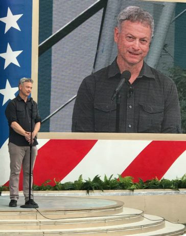 Gary Sinise at the National Memorial Day Concert. Photo by Marlene Hall.