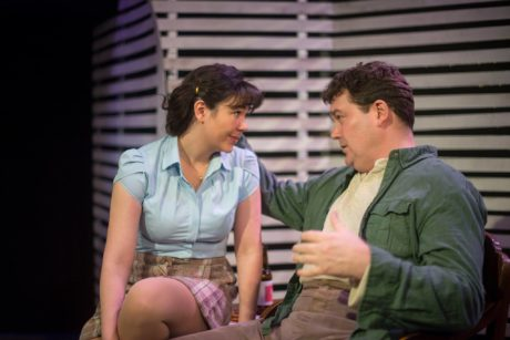 Karli Cole (Catherine) and Jack Evans (Eddie) in A View from the Bridge. Photo by Madeline Reinhold.