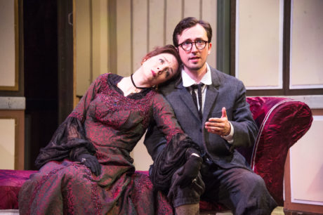 Sara Barker and Danny Cackley in The Cherry Orchard. Photo by C. Stanley Photography.