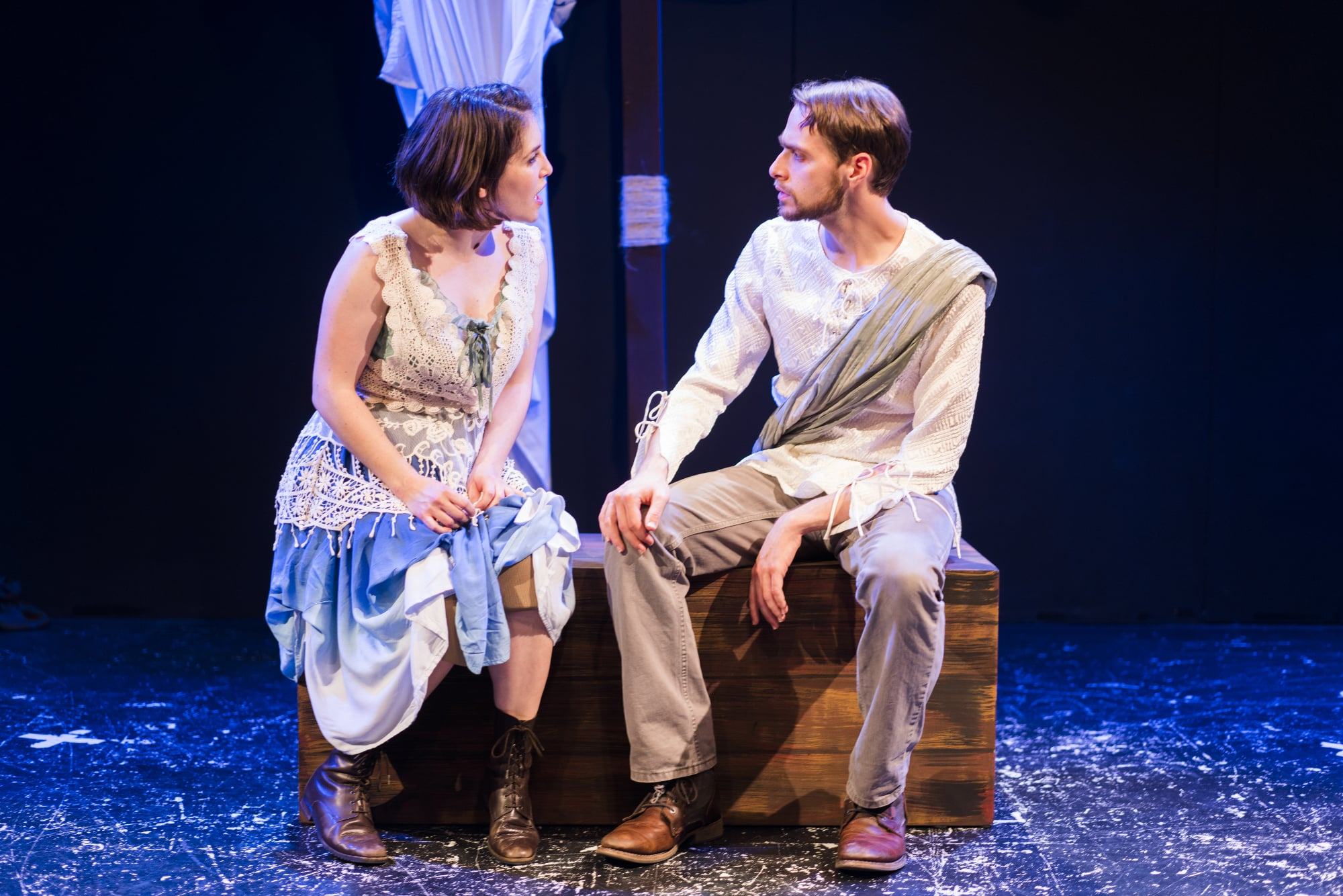 Jenna Berk and Grant Cloyd in We Happy Few's production of Pericles. Photo by Mark Williams Hoelscher.