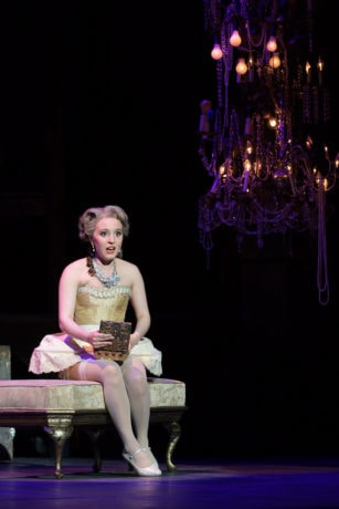 Soprano Emily Pogorelc as Cunegonde in the Washington National Opera's production of Candide. Photo by Scott Suchman.