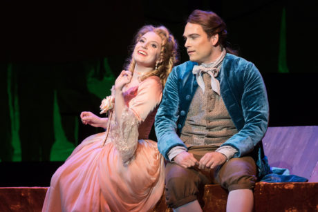 Emily Pogorelc and Alek Shrader in Candide. Photo by Scott Suchman.