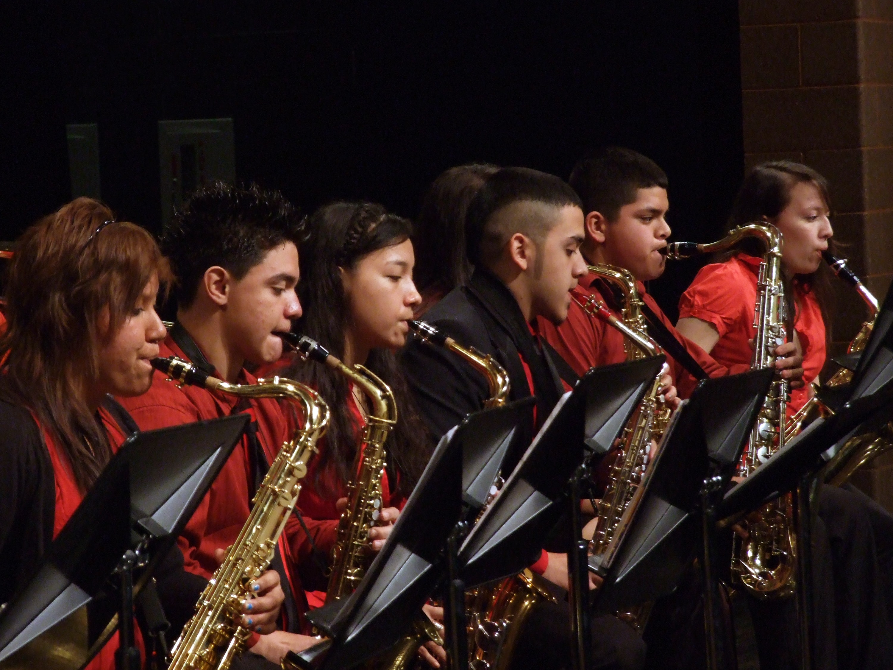 Performers from the Jazz Institute of Chicago, a prior participant in the AIM program. Photo courtesy of Bloomberg.