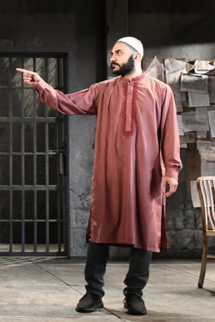 Maboud Ebrahimzadeh as Bashir in Ayad Akhtar's THE INVISIBLE HAND at Olney Theatre Center through June 10. (Photo: Stan Barouh)