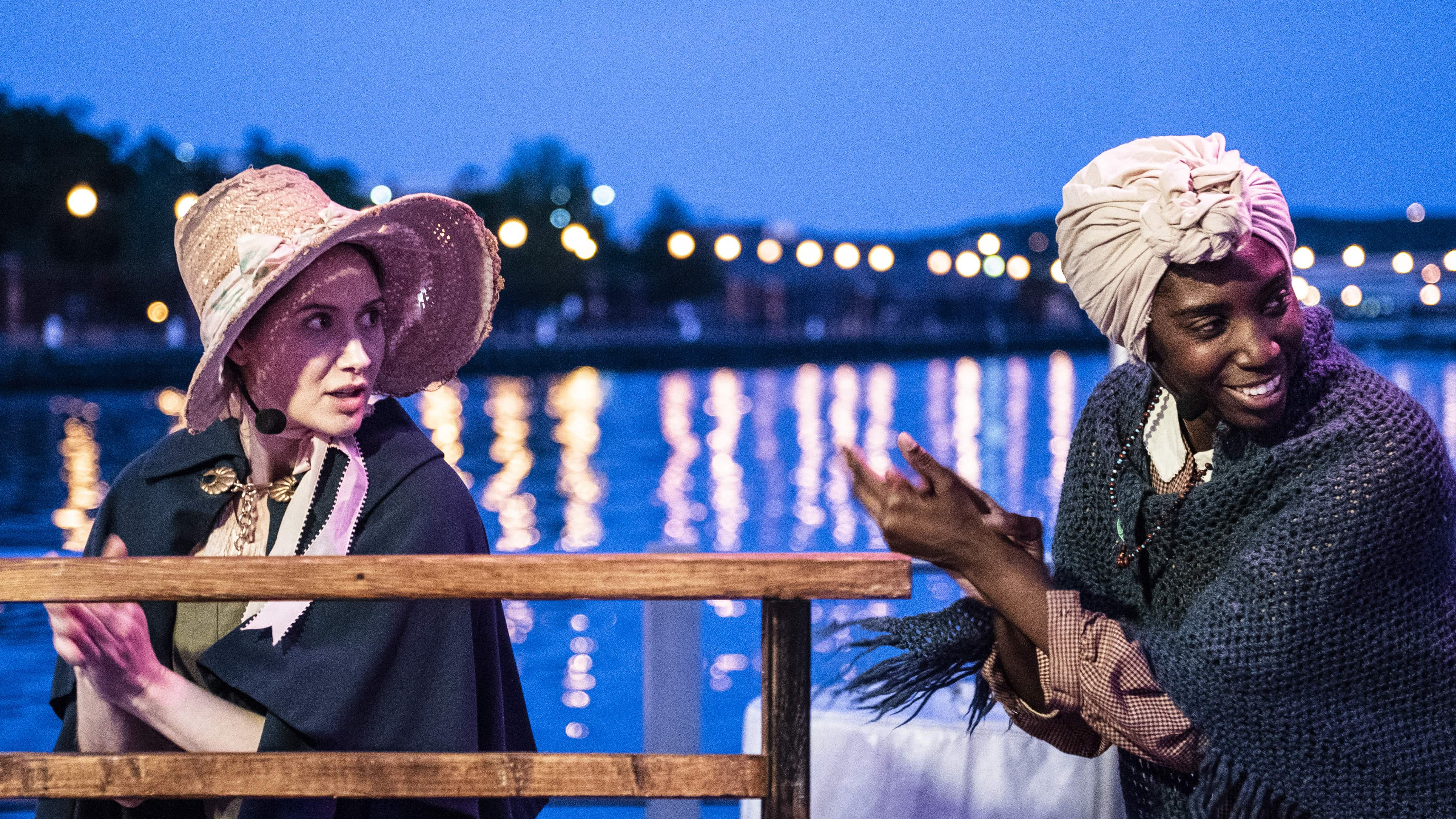 Jenny Donovan and Tiffany Byrd in The Frederick Douglass Project. Photo by Teresa Castracane.