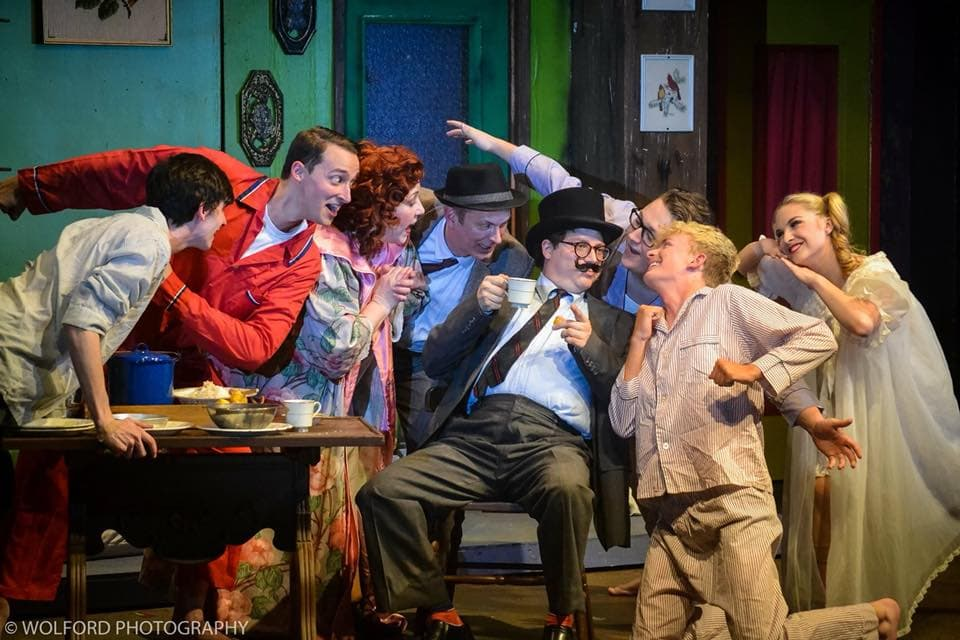 The cast of Gypsy, now playing at Cumberland Theatre. Photo by Wolford Photography.
