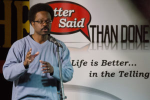 Storyteller Nick Baskerville. Photo courtesy of Better Said Than Done.
