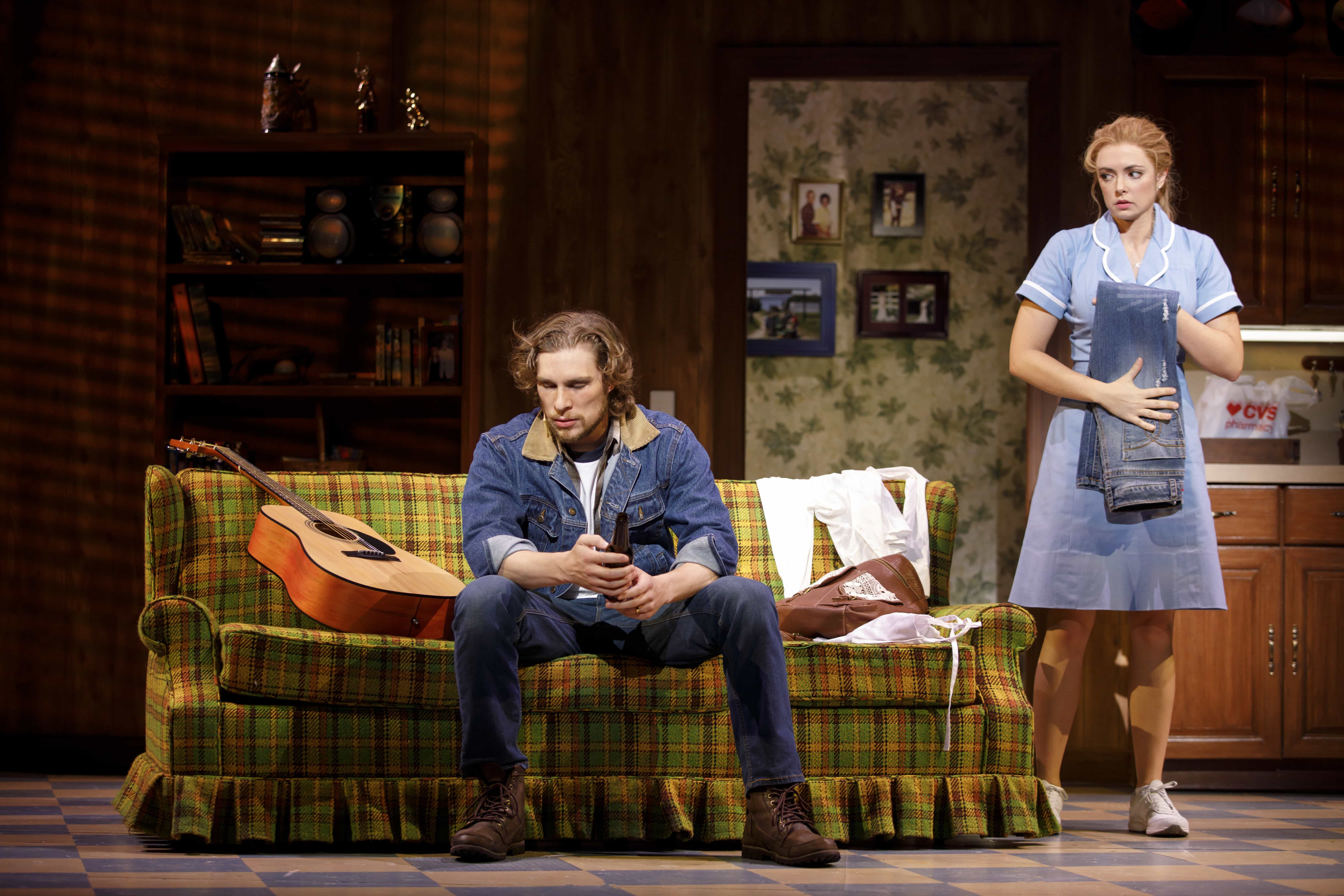 Nick Bailey and Desi Oakley in the national tour of Waitress. Photo by Joan Marcus.
