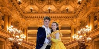 Jack White and Cynthia Jacobson in BRAVO Productions' Beauty and the Beast Jr. Photo courtesy of BRAVO Productions.