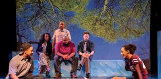 Eli EL, Tai Alexander, Shaq Stewart, Keith Irby, Jonathan Miot, and Lori Pitts in #poolparty. Photo by Teresa Castracane.