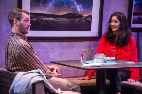 Josh Sticklin & Shanta Parasuraman in Other Life Forms, now playing at the Keegan Theatre. Photo by C. Stanley Photography.
