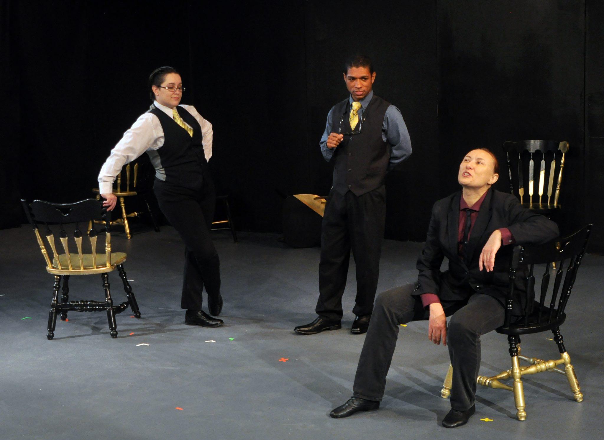 The Merchant of Venice, presented by The Rude Mechanicals, plays through June 30 at the Greenbelt Arts Center. Photo by Rachel Zirkin Duda.