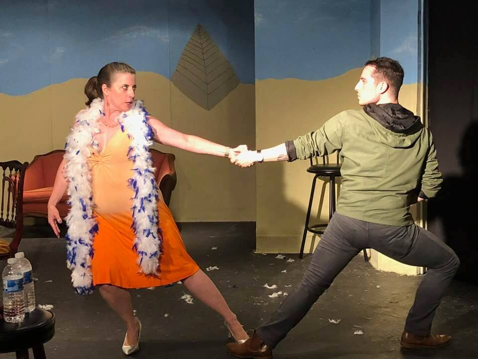 Jenna Jones Paradis and Rew Garner in 5 Courses of Funny Fare. Photo courtesy of Laurel Mill Playhouse.