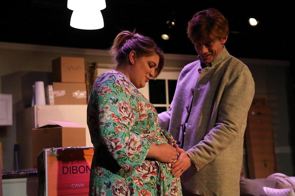 Amanda Spellman as Beth and David Shoemaker as Matt in The Quickening, now playing at Fells Point Corner Theatre. Photo courtesy of Justin Lawson Isett.