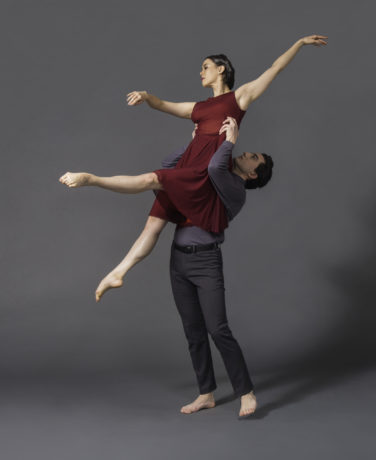 "Christin Arthur and Ian Ceccarelli perform ""I Am Vertical"" in Portraits by Dana Tai Soon Burgess and Company. Photo by Jeff Watts."