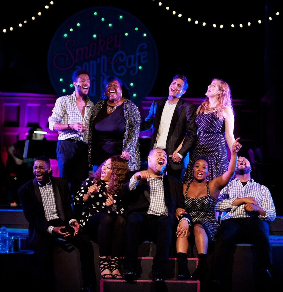 The cast of Smokey Joe's Cafe, now playing at ArtsCentric. Photo by K. Finch Photography.