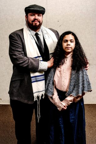 Stephen Yednock as Tateh and Snowdenn Jackson as Little Girl in Ragtime, now playing at 2nd Star Productions. Photo by Nate Jackson.