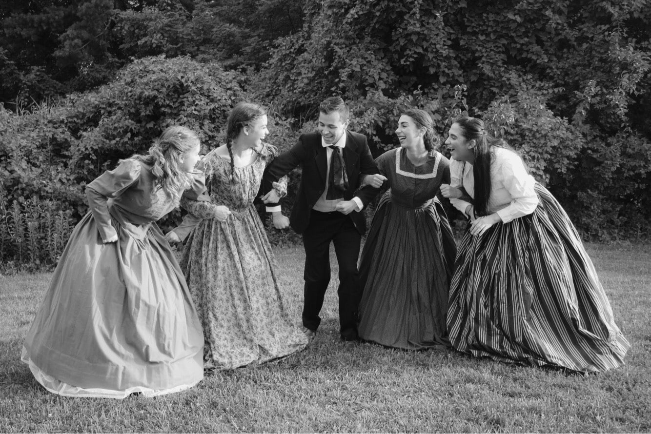 Little Women, presented by Wildwood Summer Theatre, plays through August 4, 2018, at the Arts Barn in Gaithersburg. Photo courtesy of Wildwood Summer Theatre.