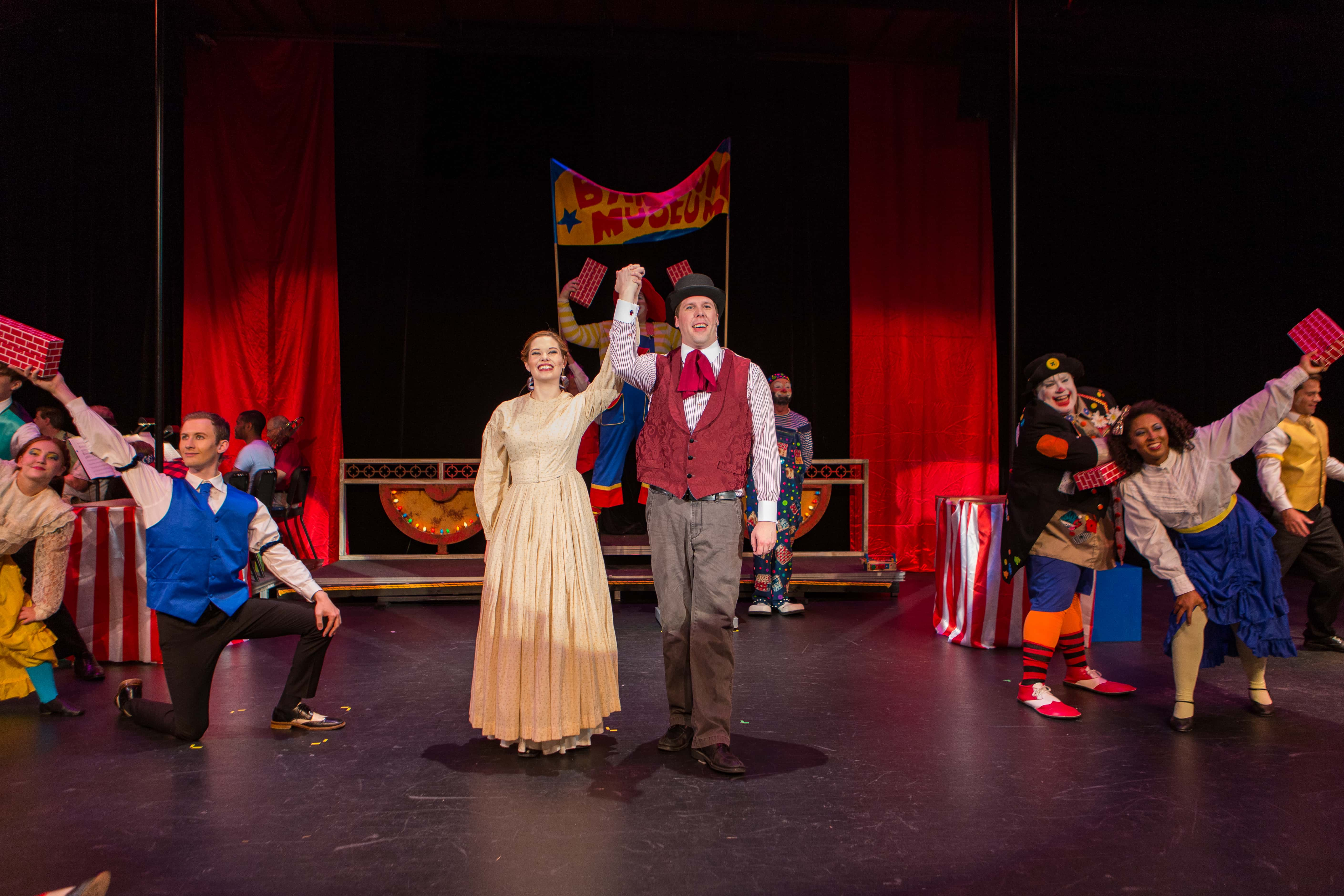 The cast of Barnum, presented by Prince William Little Theatre. Photo by David Harback/Harback Photography.