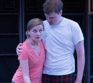 Rebecca Ballinger and David Johnson in 'The Ferberizing of Coral.' Photo by Teresa Wood.