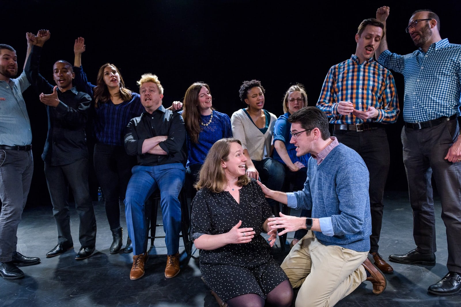 iMusical's ensemble team. Photo by Jeff Salmore.