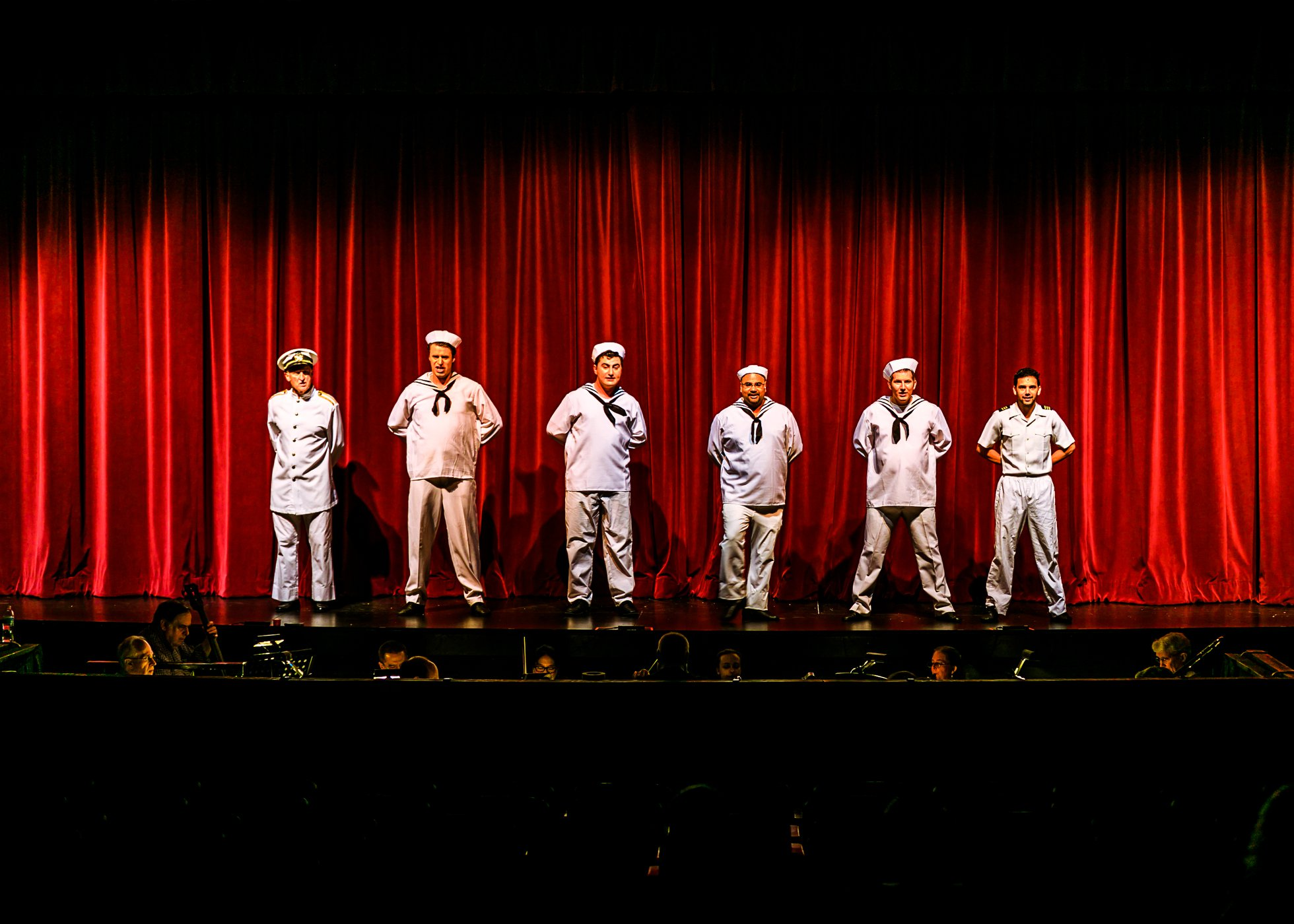 Cole Porter's Anything Goes, presented by Rockville Musical Theatre, plays through July 22 at F. Scott Fitzgerald Theatre at Rockville Civic Center Park. Photo by Dan Amodeo Photography.