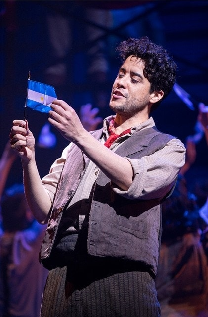 Dan Domenech as Che in Evita at the Pennsylvania Shakespeare Festival. Photo by Lee A. Butz.