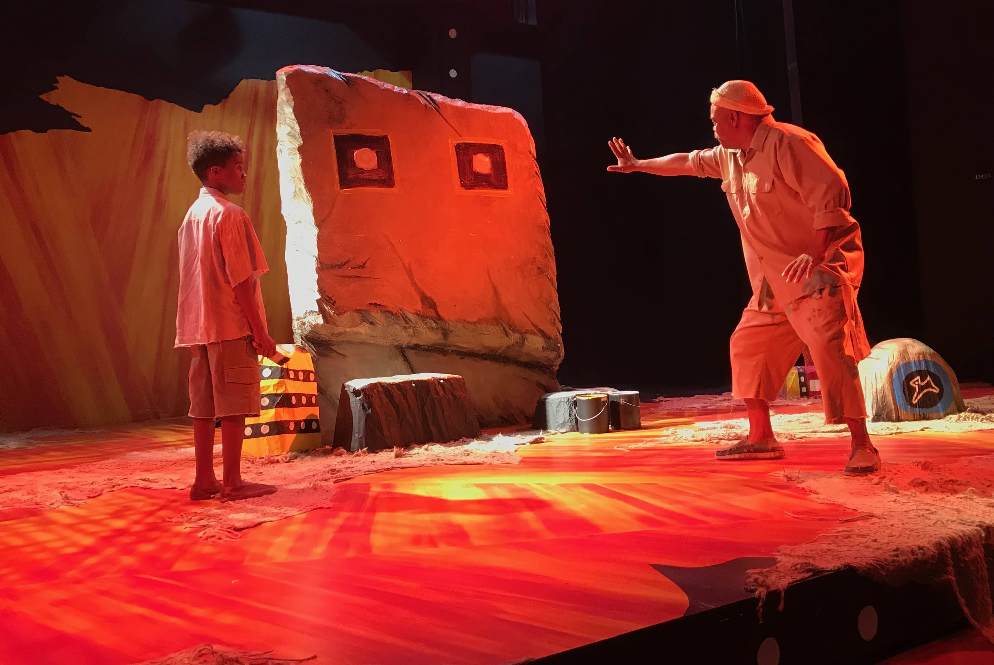 The Painted Rocks at Revolver Creek opens this weekend at MetroStage. Photo courtesy of MetroStage.