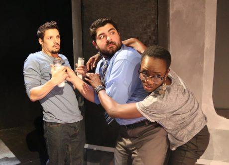 Ryan Sellers, Dylan Arredondo, and Moriamo Akibu in The Interstellar Ghost Hour. Photo courtesy of Longacre Lea.