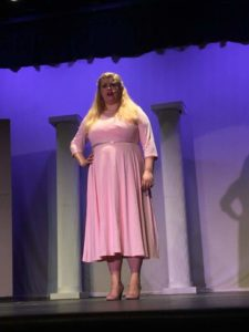 Hannah Butler as Elle Woods in Legally Blonde, now playing at Zemfira Stage. Photo by Samantha Berg.