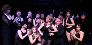 The cast of Chicago, now playing at Other Voices Theatre. Photo courtesy of Susan Thornton.