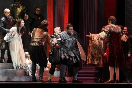 Joshua Conyers as Count Monterone in Rigoletto, playing August 3 at Wolf Trap's Filene Center. Photo courtesy of Wolf Trap Opera.