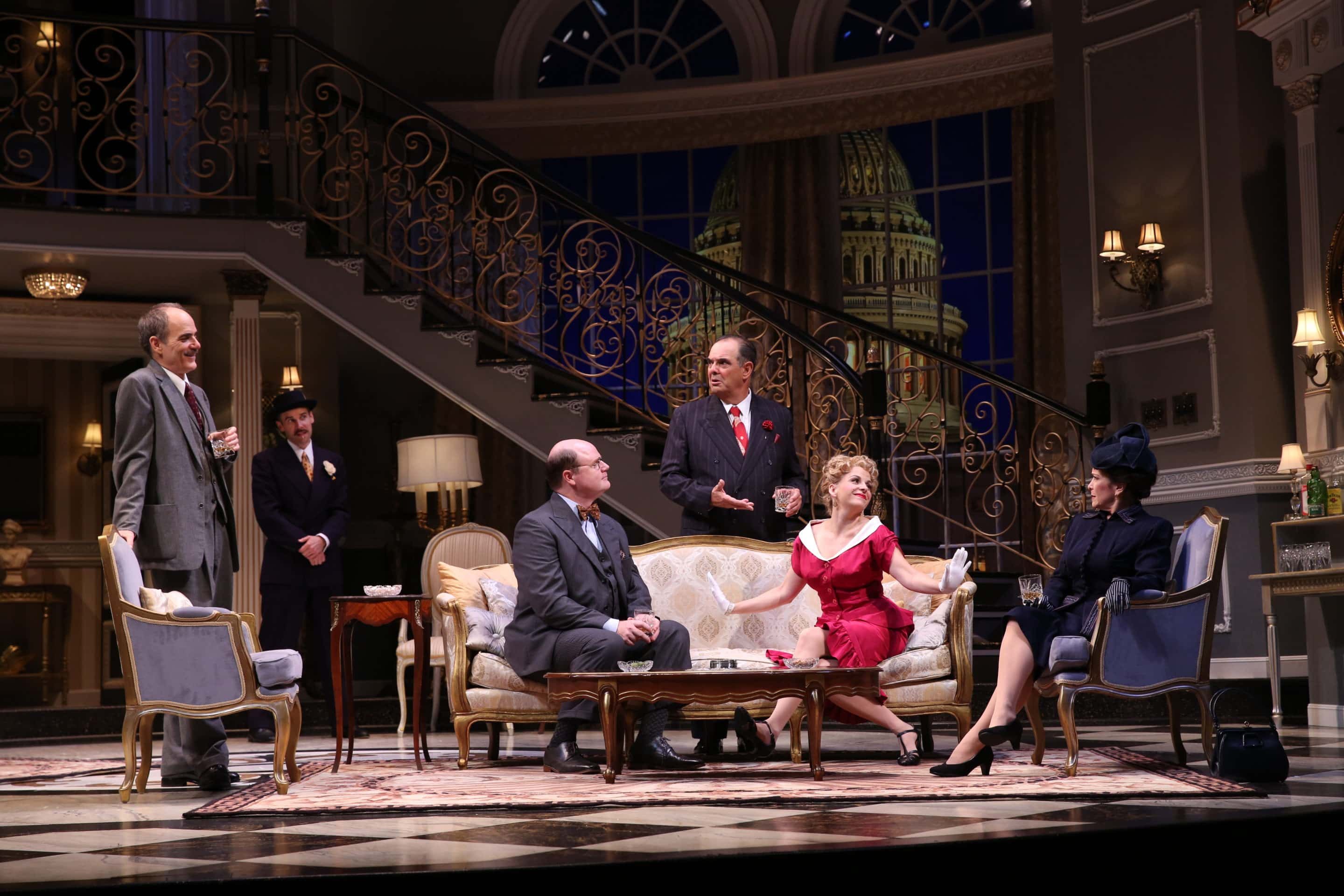 The cast of Born Yesterday, now playing at Ford's Theatre. Photo by Carol Rosegg.