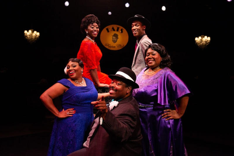 The cast of Ain't Misbehavin', now playing at Toby's Dinner Theatre. Photo courtesy of Toby's Dinner Theatre.