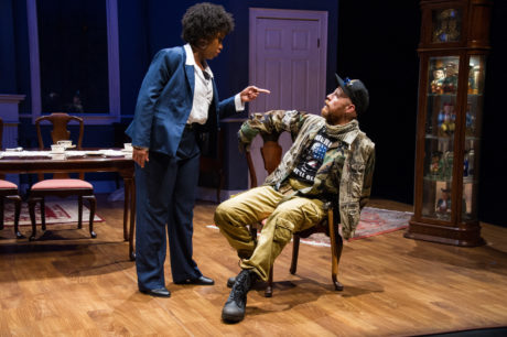 Briana Elyse Hunter and Timothy Mix in UrbanArias' The Last American Hammer, playing through September 29 at the Atlas Performing Arts Center. Photo by C. Stanley Photography.