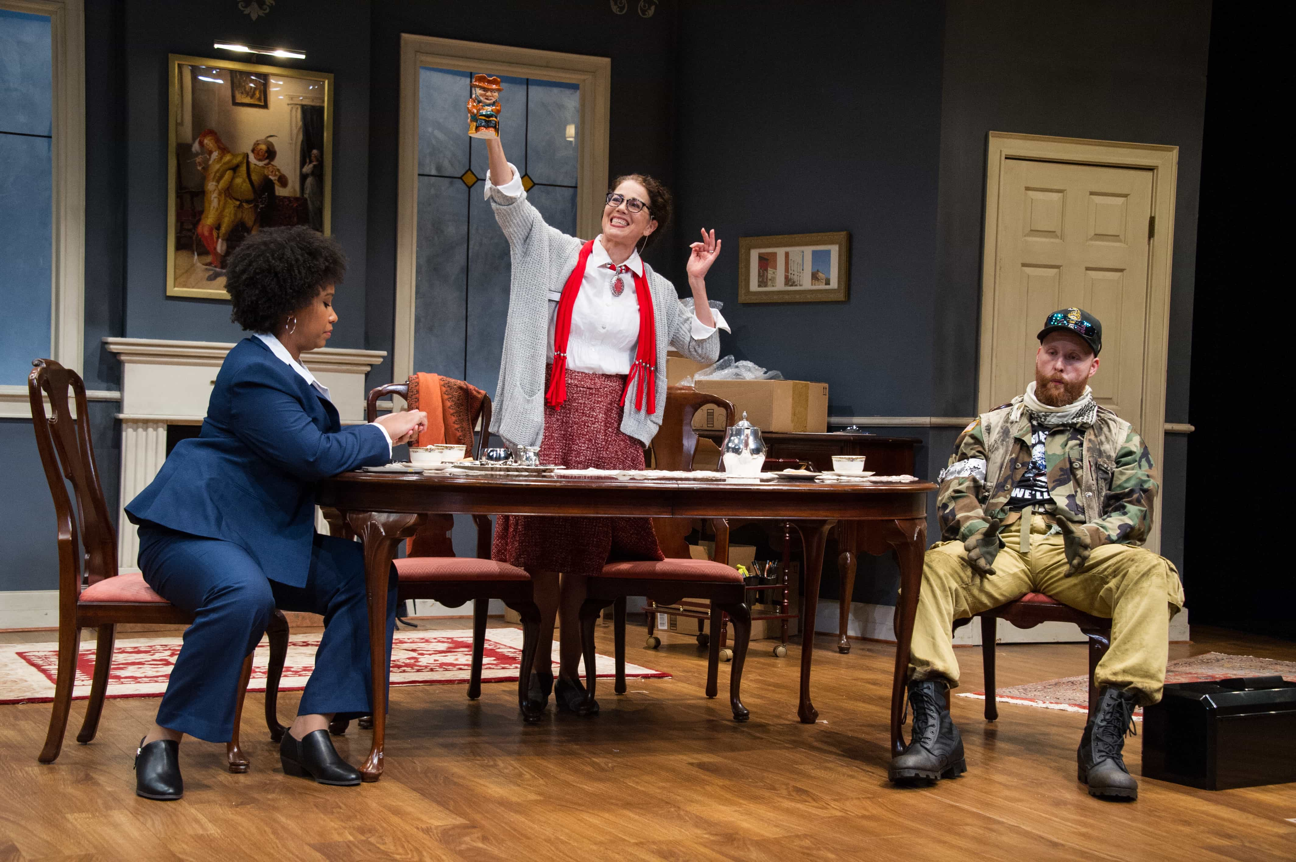 L-R: Briana Elyse Hunter, Elizabeth Futral, and Timothy Mix in UrbanArias' The Last American Hammer, playing through September 29 at the Atlas Performing Arts Center. Photo by C. Stanley Photography.