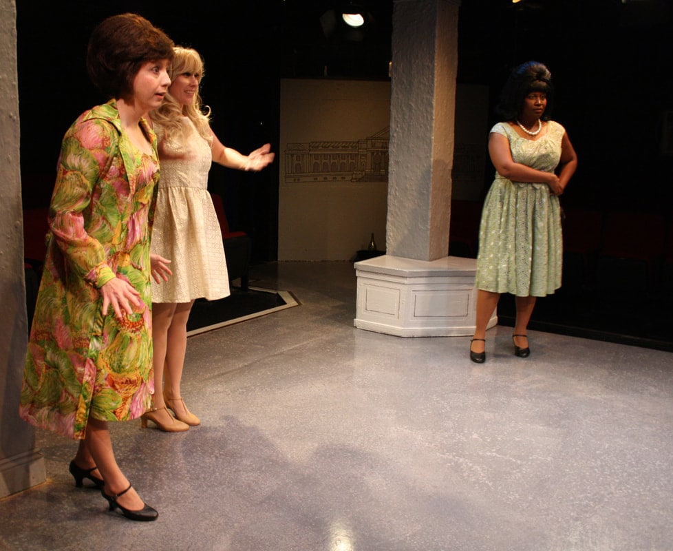 Aristophanes' Lysistrata, translated by Sarah Ruden, plays through October 14 at Spotlighters Theatre. Photo credit: Spotlighters Theatre/ Anthony Scimonelli Photography.