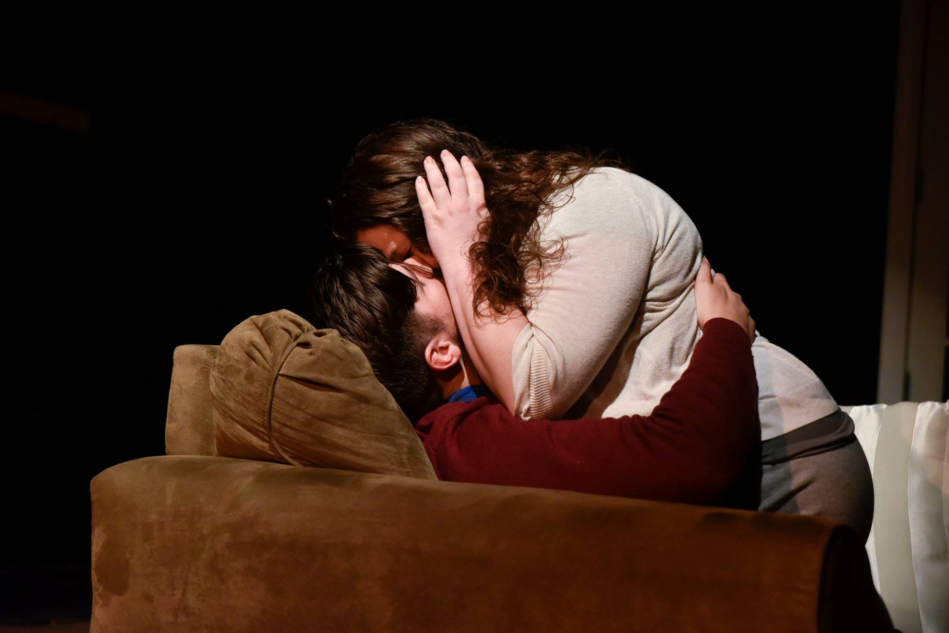 Matthew Lindsay Payne and Kathryne Daniels in Sex with Strangers, now playing at Fells Point Corner Theatre. Photo by David Iden.