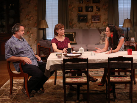 Jonathan Goldstein, Julie-Ann Elliott, and Susan Rome in If I Forget, now playing at Studio Theatre. Photo by Carol Rosegg.