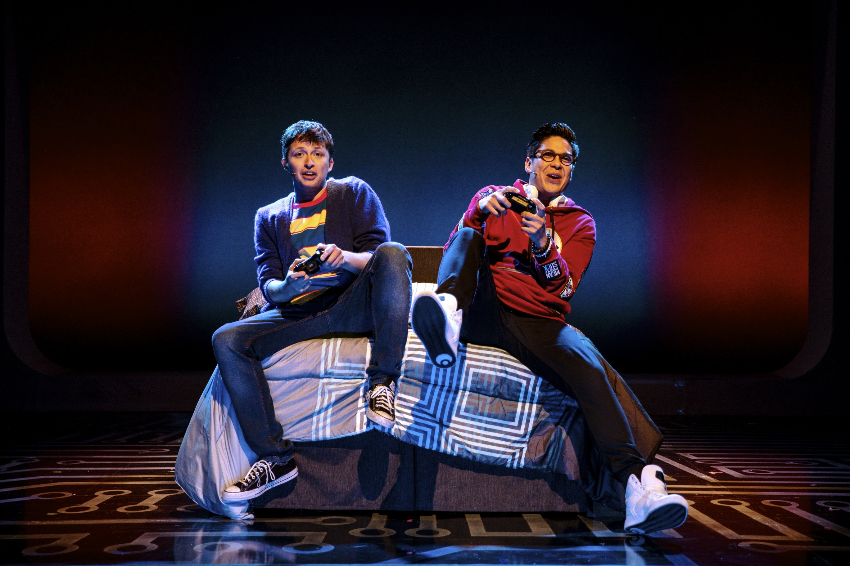 Will Roland and George Salazar in Be More Chill. Photo by Maria Baranova.