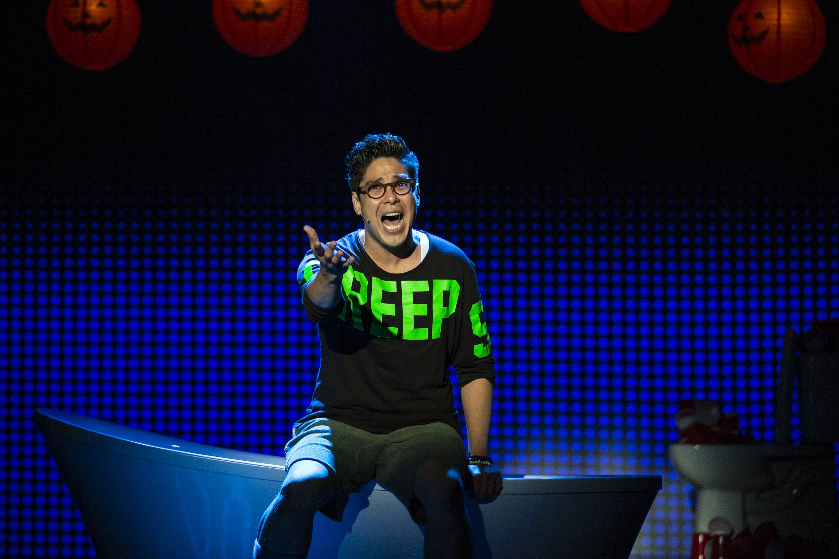 George Salazar in Be More Chill. Photo by Maria Baranova.