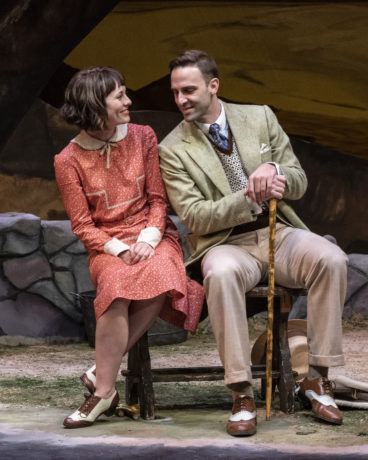 Katie Kleiger and Danny Gavigan in Dancing at Lughnasa, now playing at Everyman Theatre. Photo by Teresa Castracane.