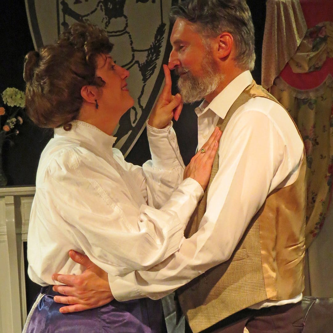 Engaging Shaw, by Best Medicine Rep Theater Company, plays through September 30. Photo courtesy of Best Medicine Rep.