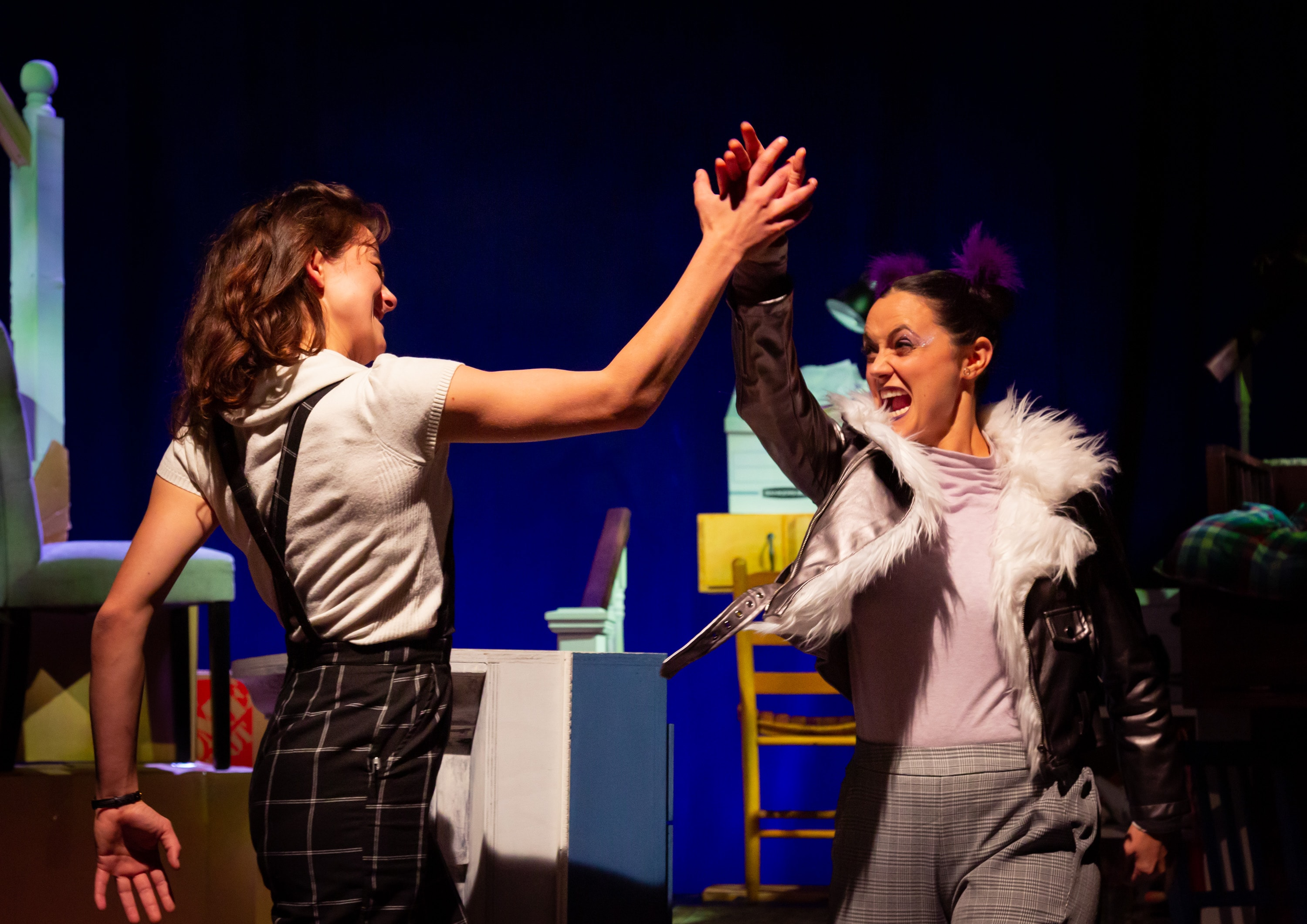Madeline Key and Robyn Rikoon in Sheila and Moby by Flying V Theatre Company. Photo by Ryan Maxwell Photography.