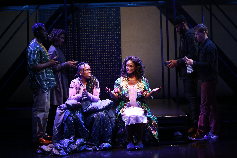 Ngozi Anyanwu, Patrice Johnson Chevannes, and cast. Photo by Carol Rosegg.