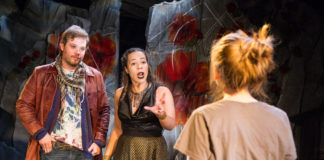 L-R: Erik Harrison, Chloe Mikala and Tori Boutin in Sing To Me Now by Rorschach Theatre Company. Photo by C. Stanley Photography.