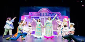 The cast of Reston Community Players' production of Hairspray, playing through November 10. Photo by Chip McCrea Photography.