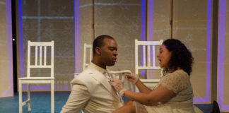 Jim Williams and Mia Rojas in Figaro in Four Quartets by The In Series. Photo by Angelisa Gillyard.
