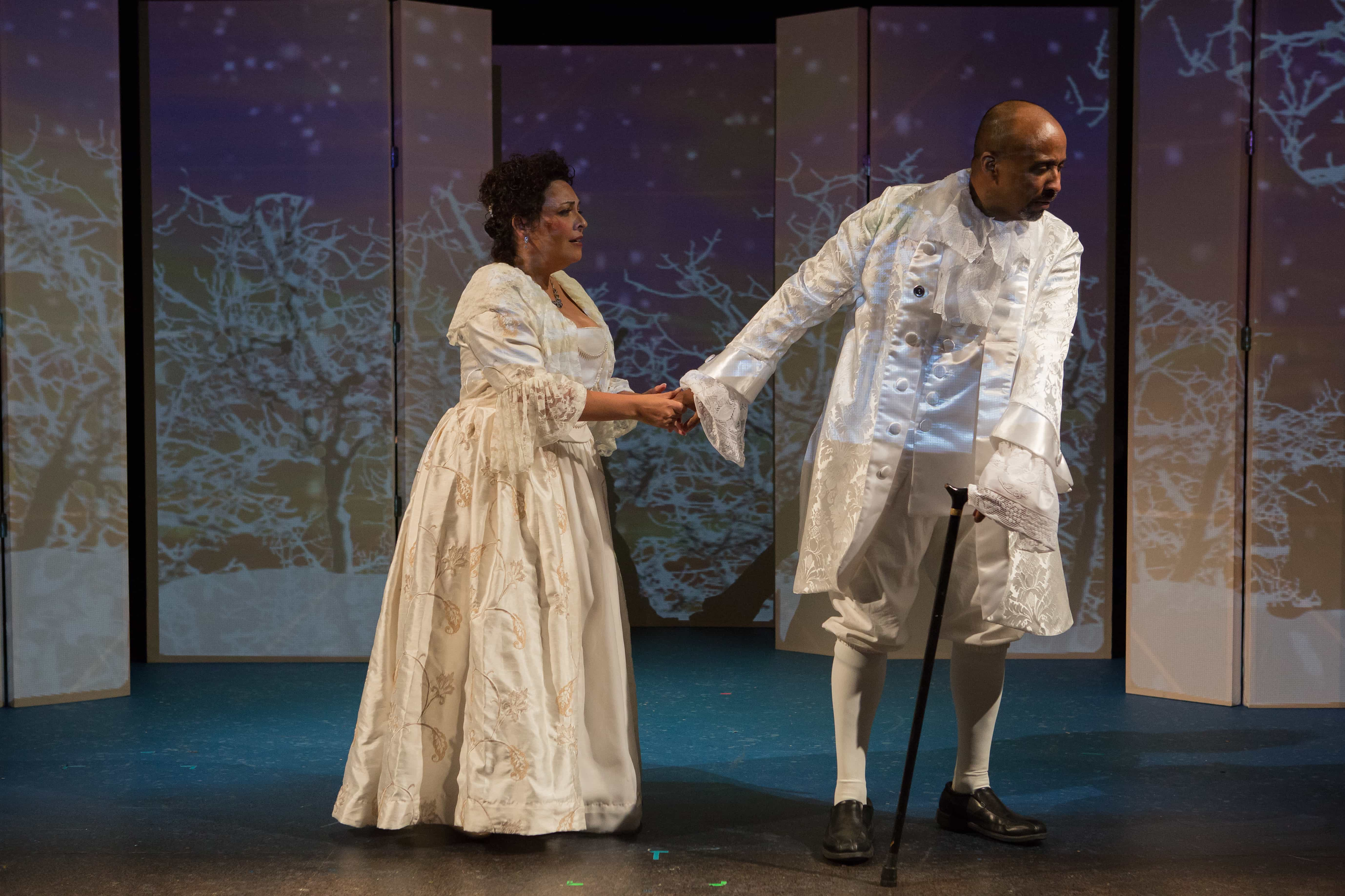 Elizabeth Mondragon and Bryan Jackson in Figaro in Four Quartets by The In Series. Photo by Angelisa Gillyard.