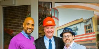 L-R: Artistic Director Michael Bobbitt, Senator Chris Van Hollen, Managing Director Leon Seemann.